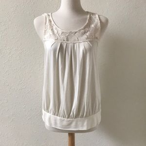 Express cream lace tank